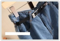 Женские шорты New sale! I Q shop/ blue wash loose show shorts with belt! hot pants