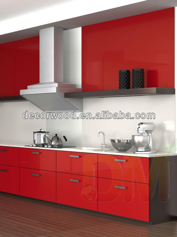 2014 새로운! 높은 광택 부엌 캐비닛 현대적인 붉은 FFE 식료품 ...
