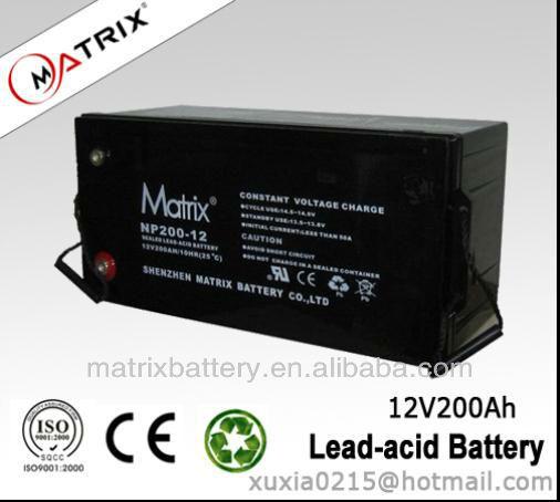 12V200AH UPS dry batteries for ups