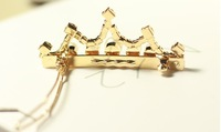 Ювелирное украшение для волос gold color crystal pearl crown hairpins luxury rhinestone hair clips barrettes for women and girls Free shippin, .mkg