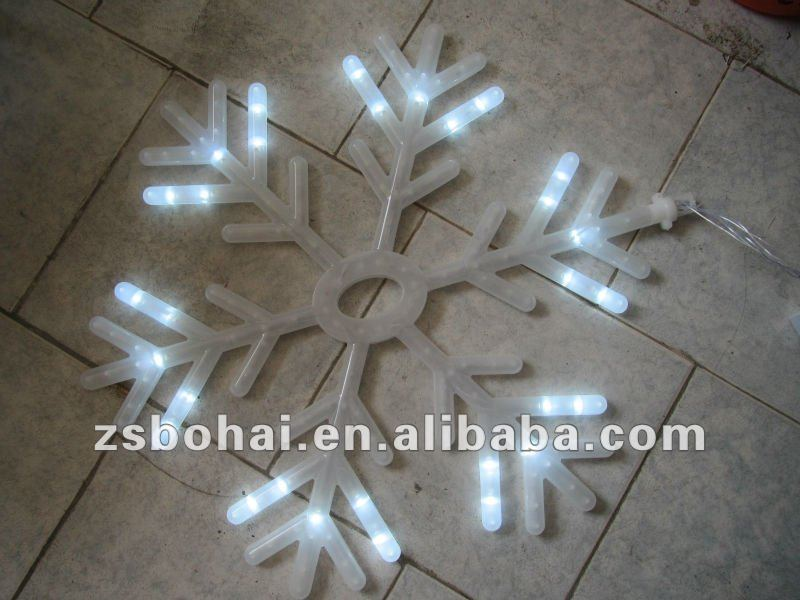 white led snowflake lights