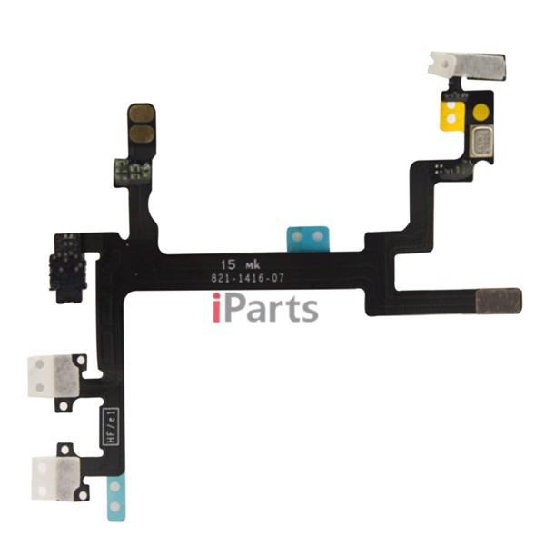 подлинный новые oem, включите кнопку flex & громкости кнопка переключения соединительный кабель для iphone 5