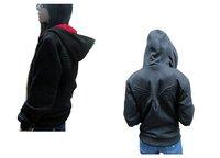 Free Shipping Assassin's Creed 3 Overcoat Brotherhood DESMOND Hoodie Hawk pocket hoodie White /Black