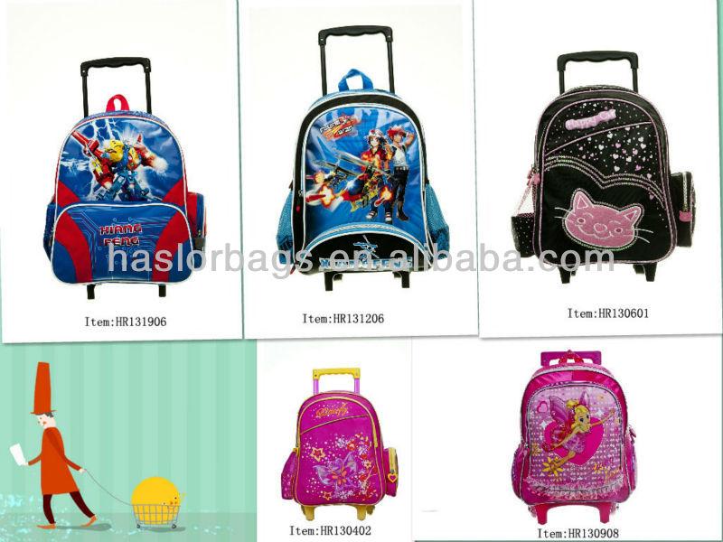 2014 nouveau Style sac à roulettes de l'école avec roues pour enfants