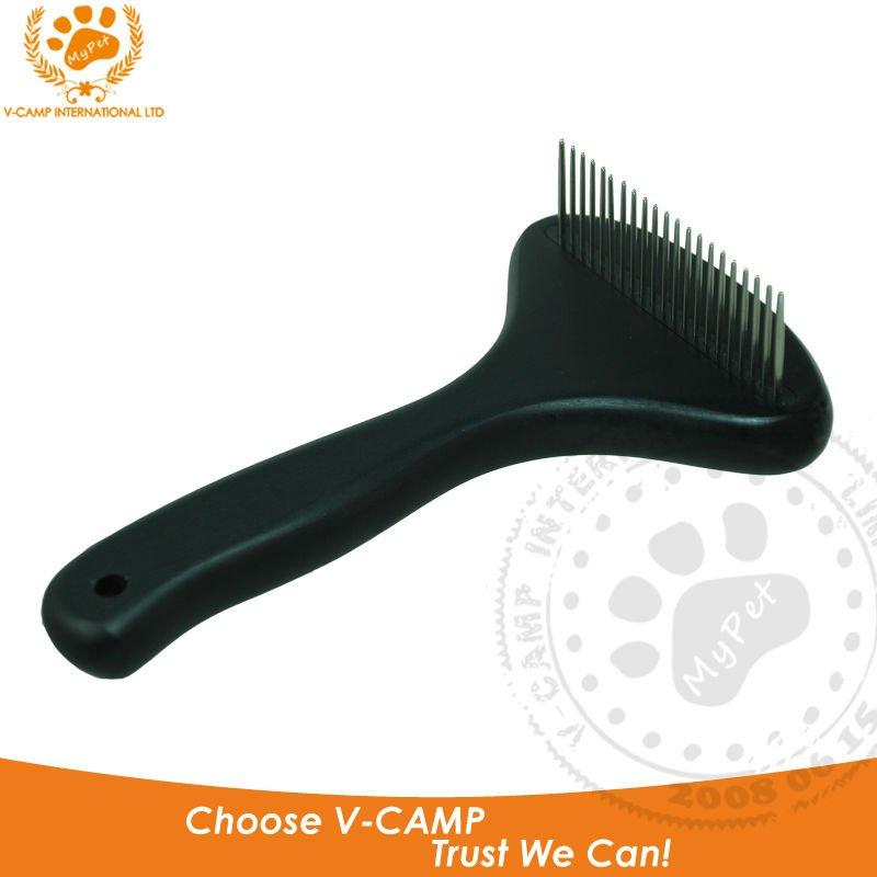wooden handle & steel pin pet rake