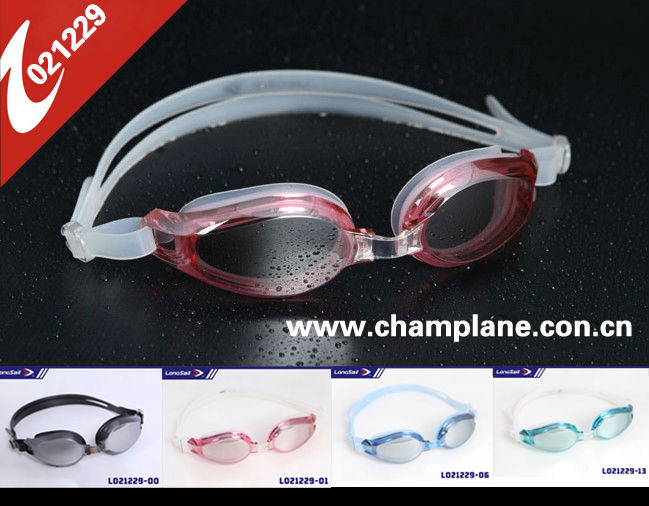 2014 high quality swimming goggles aiti-fog coating