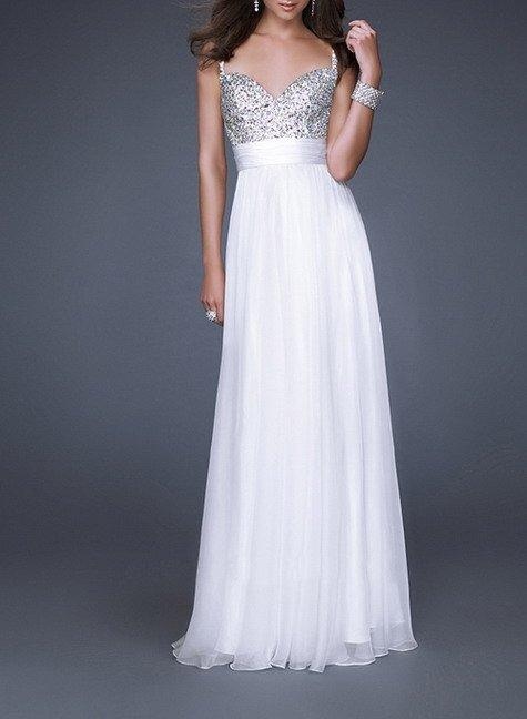 Вечерние белые длинные платья фото 5