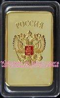 5pcs/lot 30 грамм.999 золото одетый Советский герб слитки бар
