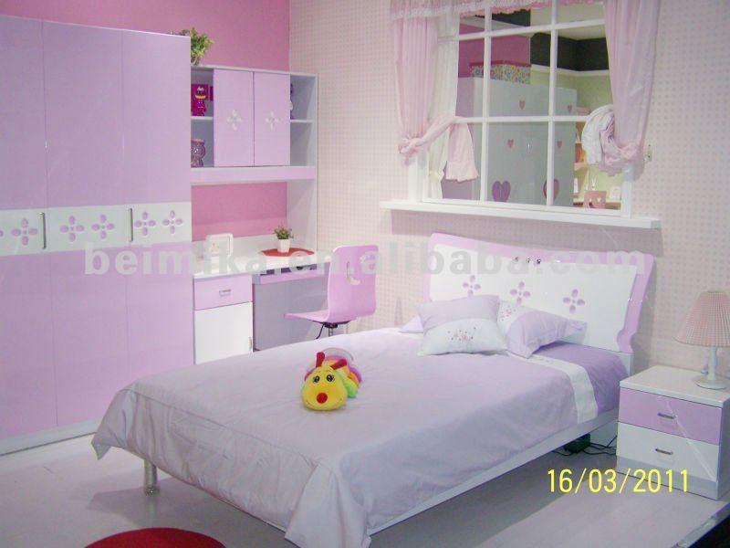 rosa brillante estilo moderno dormitorio nios conjuntos mueble para las nias