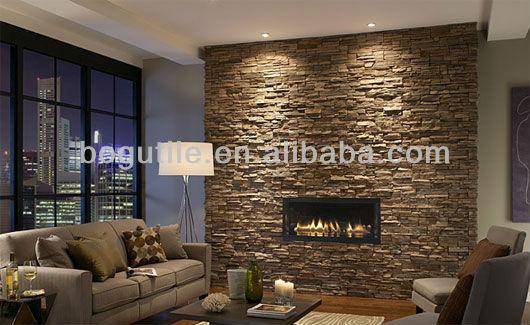 marrone muro interno decorazioni in pietra piastrelle-piastrelle ...