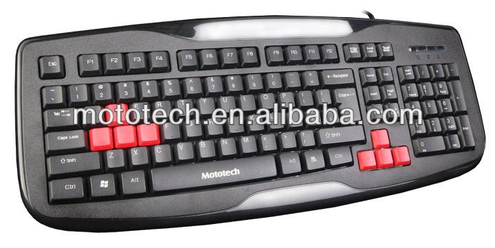 Slim ergonomic gaming keyboard for laptop and desktop