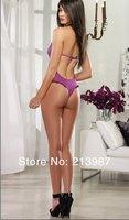 Женское эротическое боди women sexy lace lingerie new design women teddy lingerie hot purple teddy