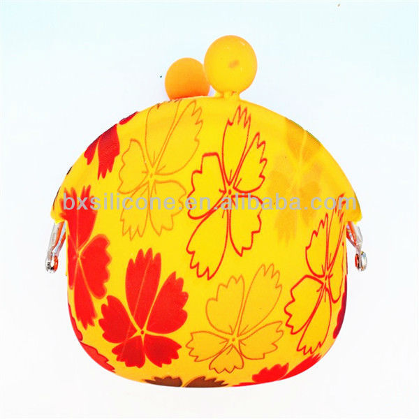 Candy colors silicone key bag/silicone beach bag/silicone hand bag