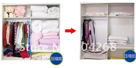 FREE SHIPPING!! 10PCS / LOT Vacuum Storage Bag/Vacuum Compressed Bag/Vacuum space saving compressed storage bag/70CM*100CM