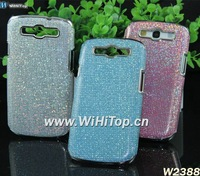 50PCS/Lot LUXURY CHROME CASE FOR GALAXY S3 LEATHER SKIN COVER