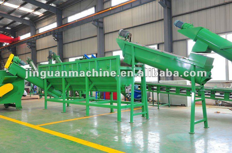 High efficiency plastic film recycling line