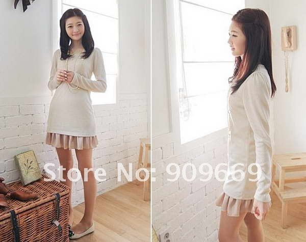 2012 Free shipping wholesale white mini short cocktail clothing beaded dresses long sleeve QNW046