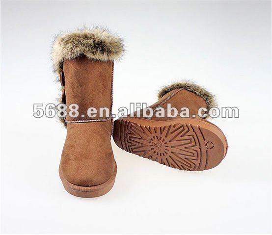 2012 Popular Trend Thicken Coffee Cheap Snow Boots TM-G3303