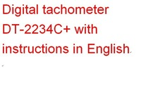 Тахометр digital laser tachometer DT-2234C+ with instructions in English digital pocket anemometer tachometer laser