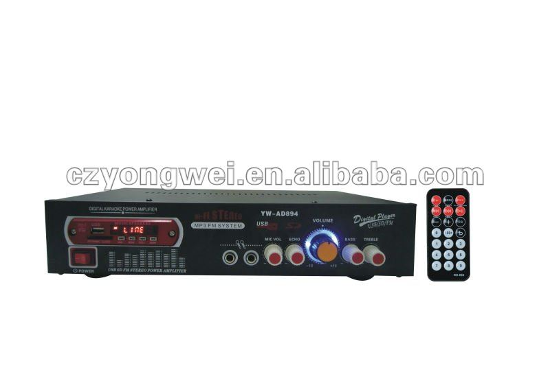 YW-AD894 Professional small amplifier USB SD MP3 data read audio