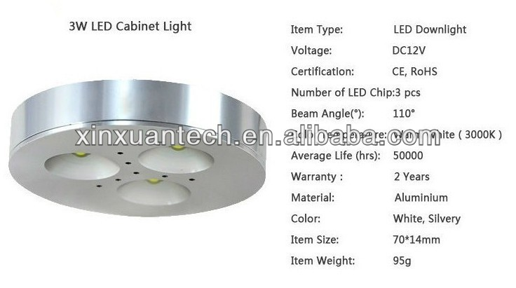 3w cree/edison led under cabinet lighting china