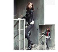 Женская одежда из кожи и замши New Winter Women Coat Short Zipper Motorcycle Pu Leather Jacket Clothes For Winter Spring Black