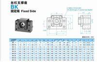 Механические детали BK15 Ballscrew support CNC