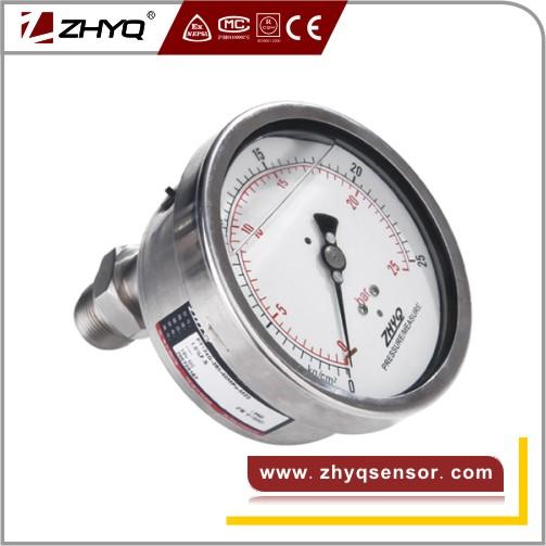 Bourdon tube clamp mounting diaphragm pressure gauge