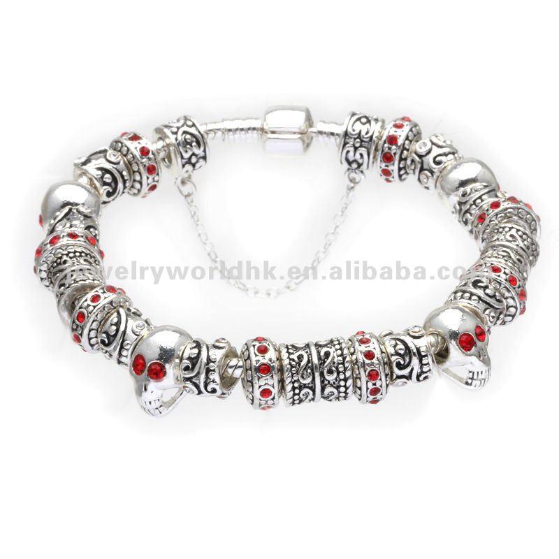 Skull Bracelets Wholesale Skull Charm Bracelets