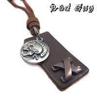 Цепочка с подвеской 25%off pl019 leather necklaces, good cowhide, vintage cowhide necklace, Punk Style, fashion jewelry, 100% genuine leather