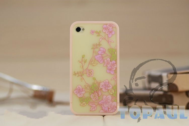 New arrival soft dots plastic case for iphone, fashion plastic case for iphone4/4s, high quality, 4G236 free shipping