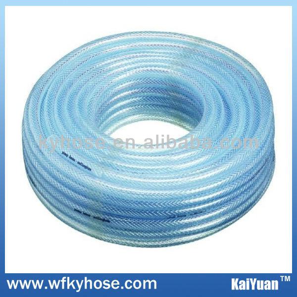 pvc braided hose pipe ligth blue transparent
