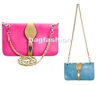 3PCS/LOT Lady's PU Leather messenger bags Lady's Clutch Purse Candy color bag 4 color  5277