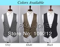 Мужской жилет PJ Men's Stylish Slim Fit Single Breasted Blazer Vest 3 Size XS~M CL5354