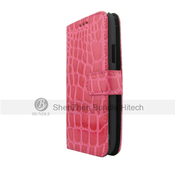 Crocodile Leather Wallet Card Flip Cover Case for Samsung Galaxy S4 Mini i9190