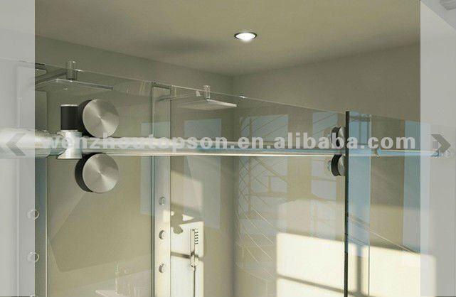 Rectangulaire sans cadre en verre tremp porte de douche coulissante et cran - Porte douche battant verre ...