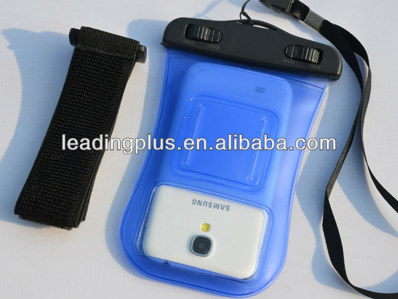 PVC Waterproof Bag with Viewing Window and Armband for iPhone 5, for iPhone5 Waterproof Bag with Armband