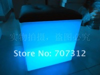 LED multi color bar chair cube stool storage box ice pail flower pot show shelf, 40*40*45CM