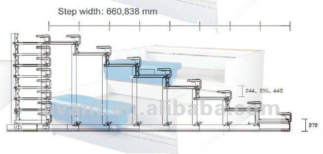 Durable Telescopic Seating Rail Retractable