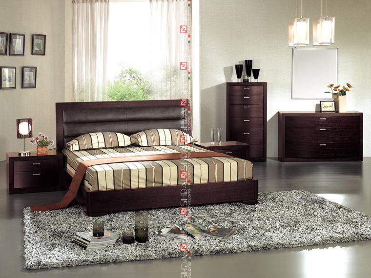 Moderne meubles chambre chambre de luxe set style for Meuble japonais moderne