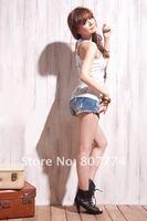2015 весна лето новые моды Женская безрукавка сексуальные кружева крючком обратно в дырочку женщина камзол кружева 7 цвета жилет s, m, l #1030