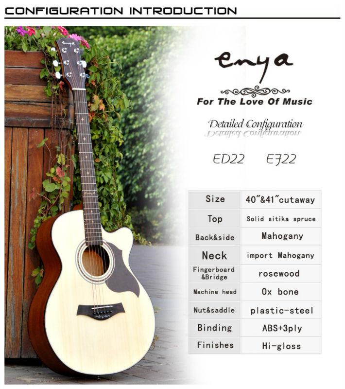 Cutaway Acoustic Guitar Kit Enya Cutaway Acoustic Guitar