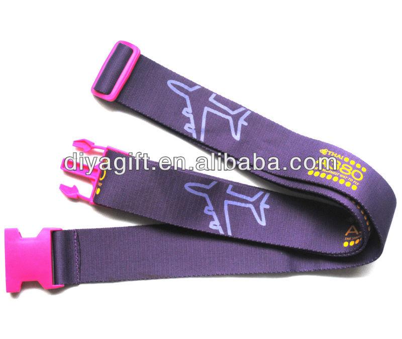 [DIA]polyester TSA travel luggage belt with print,TSA luggage strap