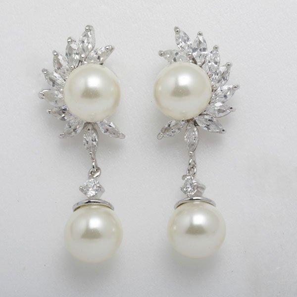Pearl Earrings Designs Images Elegant Imitation Pearl Long