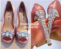Туфли на высоком каблуке wedding shoes crystal shoes women high heels rhinestone high heel shoes pumps