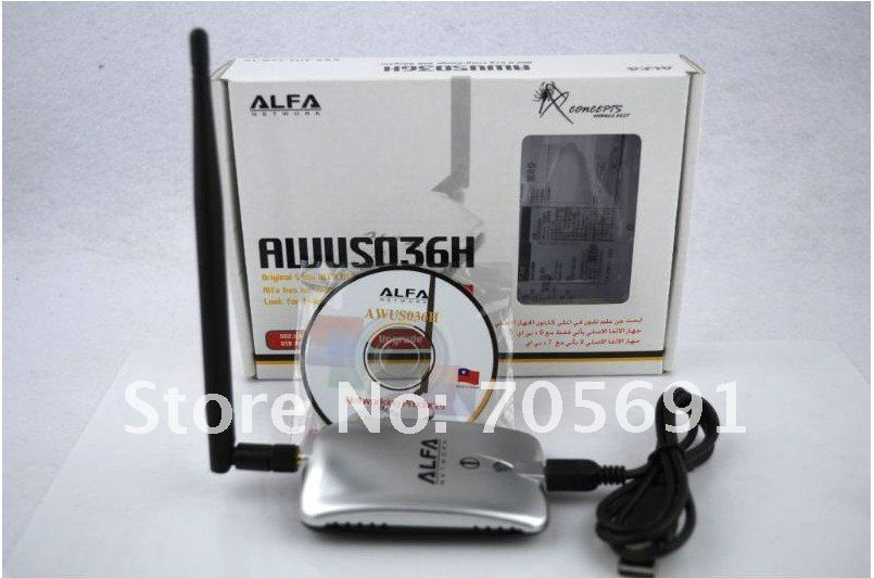 Free shipping   UAE DUBAI  SPECIAL PRICE  high power alfas USB WIFI ADAPTER with 5dbi antenna