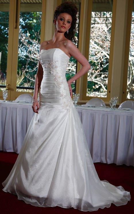 Diamond Fishtail Wedding Dresses : Eb fishtail organza selected material ruffle diamond