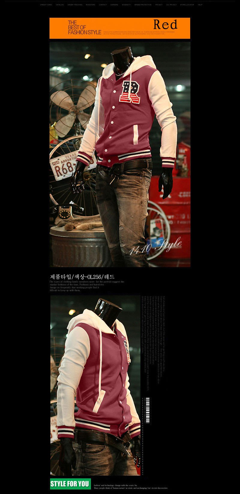 The cross-quarter of the first fashion men jacket S letter baseball shirt baseball uniform coat