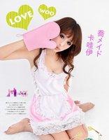 Рекламный костюм Angel Dambi Sexy Professon Costume Cute Maid lingerie Pink White N21