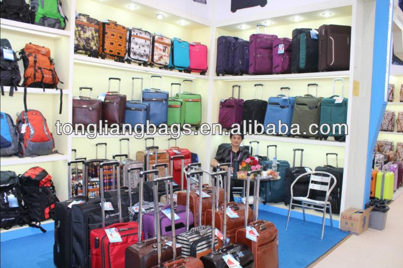 BaiGou Four Wheels Polyester Luggage Bag Travel Set